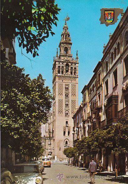 Sevilla La Giralda Desde La Calle Mateo Gago Editada En 1962