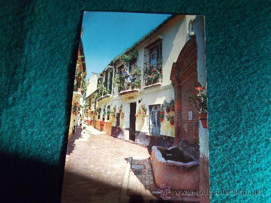MALAGA-D21-ESC-CIRC-SELLADA-CALLE TIPICA (Postales - España - Andalucia Moderna (desde 1.940))