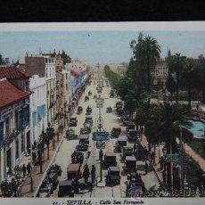 Postales: TARJETA POSTAL. SEVILLA. CALLE SAN FERNANDO. L. ROISIN FOT. AÑOS 40.. Lote 29927375