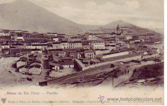 HUELVA -MINAS DE RIO TINTO. PUEBLO - PAPELERIA INGLESA Nº 5 (Postales - España - Andalucía Antigua (hasta 1939))