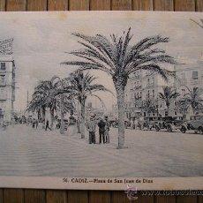 Postales: POSTAL CADIZ PLAZA DE SAN JUAN DE DIOS FOT. L. ROISIN 56. Lote 30082677