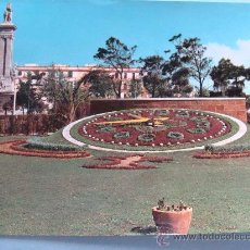 Postales: POSTAL DE CÁDIZ, ANDALUCÍA. AÑO 1963. PLAZA DE ESPAÑA, RELOJ FLORAL. 127. . Lote 30181247