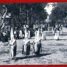 Postales: ANTIGUA TARJETA POSTAL: PROCESIÓN DE SEMANA SANTA DE MÁLAGA - USADA - AÑO 1928. Lote 30188567
