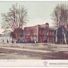 Postales: MÁLAGA: LA ESTACIÓN. NO CONSTA EDITOR. REVERSO SIN DIVIDIR. NO CIRCULADA (ANTERIOR A 1905). Lote 30232888