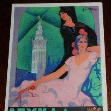 Postales: ANTIGUA POSTAL DE SEVILLA - FIESTAS DE PRIMAVERA 1930, SEMANA SANTA FERIA EN EL RECINTO DE LA EXPOSI. Lote 30245547