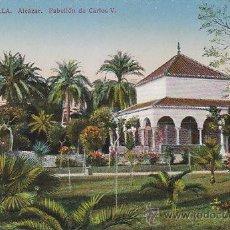 Postales: SEVILLA, ALCAZAR, PABELLÓN DE CARLOS V, EDITOR: C.R.S. Nº 61. Lote 30306175