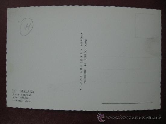 Postales: MALAGA, VISTA GENERAL - POSTAL FOTOGRAFICA - Foto 2 - 30386954