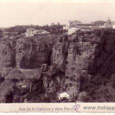 Postales: MALAGA - RONDA - AVENIDA DE LA CALDERA Y VISTA PARCIAL . Lote 30504591