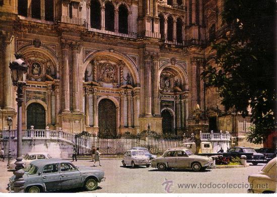 MALAGA - CATEDRAL - FACHADA PRINCIPAL (Postales - España - Andalucia Moderna (desde 1.940))