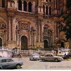 Postales: MALAGA - CATEDRAL - FACHADA PRINCIPAL. Lote 30516760