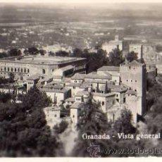Postales: GRANADA VISTA GENERAL RESTOS DE ALBUM EN REVERSO SIN CIRCULAR . Lote 30541542
