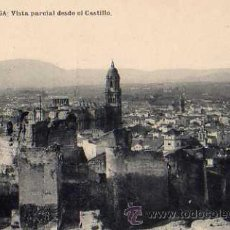 Postales: MÁLAGA VISTA PARCIAL DESDE EL CASTILLO FOTOTIPIA DE HAUSER Y MENET SIN CIRCULAR . Lote 30595792