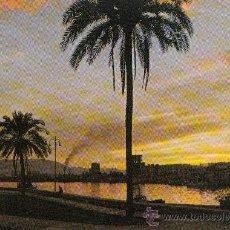 Postales: POSTAL MALAGA. PUESTA DE SOL Y PASEO DE LA FAROLA. POSTALES COSTA DEL SOL. Lote 30659784
