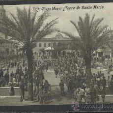 Postales: ECIJA - PLAZA MAYOR Y TORRE DE SANTA MARIA - FOTOGRAFICA - LIB CASTELLANO - (9226). Lote 30692263