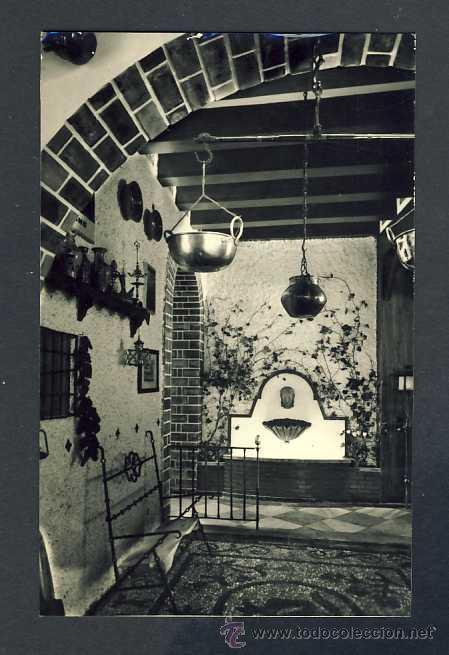 POSTAL DE GRANADA: HOTEL VERSALLES, UN RINCON DE LA ENTRADA (SIN EDITOR) (Postales - España - Andalucía Antigua (hasta 1939))