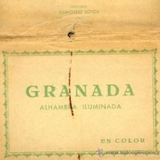 Cartes Postales: GRANADA ALHAMBRA ILUMINADA - LIBRITO BLOC DE POSTALES FOTÓGRAFO ZERKOWITZ. Lote 31326268