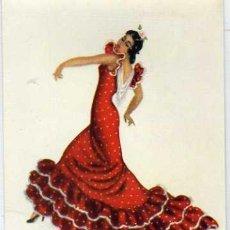 Postales: BAILAORA FLAMENCA. DIBUJO DE Mª ROSA BENDALA. GRÁFICAS REUNIDAS. TRAJES REGIONALES Nº 23. Lote 31541375