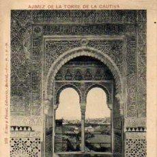 Postales: GRANADA. ALHAMBRA. 163. ROMO Y FÜSSEL. LIBRERIA. MADRID. AJIMES DE LA TORRE DE LA CAUTIVA.. Lote 31617697