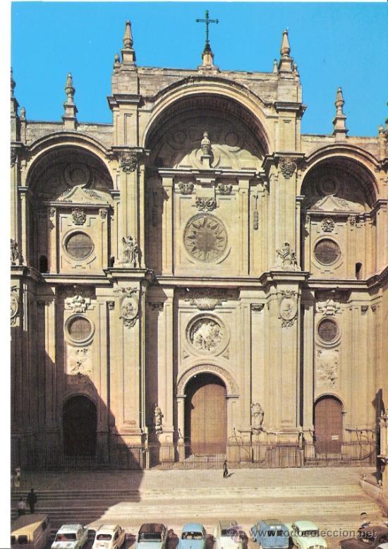 CATEDRALES DE ESPAÑA.EDICIONES VISTABELLA. Nº 5. 1966. CATEDRAL DE GRANADA. (Postales - España - Andalucia Moderna (desde 1.940))