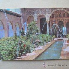 Postales: GRANADA, GENERALIFE, PATIO DE LA ACEQUIA. N° 1024. Lote 31749357