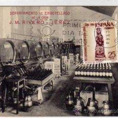 Postales: JEREZ DEPARTAMENTO DE EMBOTELLADO DE LA CASA J. M. RIVERO. . Lote 31872031