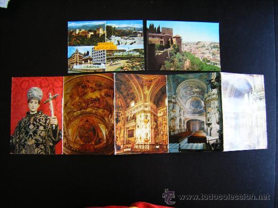 Postales: lote 2 postales y desplegable granada. alhambra y ciudad. Desplegable serie 36 kolor zerkowitz. - Foto 2 - 32027812