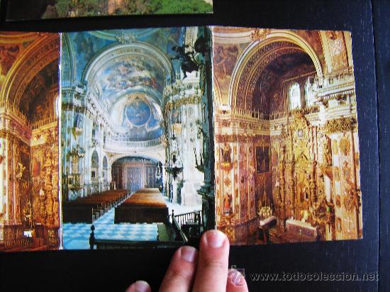 Postales: lote 2 postales y desplegable granada. alhambra y ciudad. Desplegable serie 36 kolor zerkowitz. - Foto 3 - 32027812
