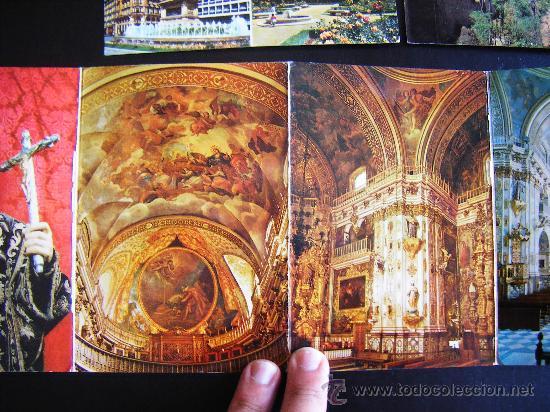 Postales: lote 2 postales y desplegable granada. alhambra y ciudad. Desplegable serie 36 kolor zerkowitz. - Foto 4 - 32027812