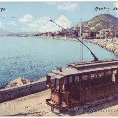 Postales: MÁLAGA: CAMINO DEL PALO. TRANVÍA. ED PURGER & CO. NO CIRCULADA (C.1910). Lote 32067733