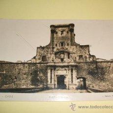 Postales: CADIZ PUERTA DE TIERRA. Lote 32202749