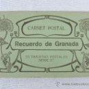 Postales: CARNET POSTAL - RECUERDO DE GRANADA - FOTOTIPIA CASTAÑEIRA, ALVAREZ Y LEVENFELD. Lote 32300456