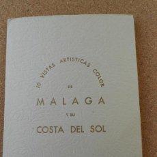 Postales: 10 POSTALES ARTISTISCAS DE MALAGA-COSTA DEL SOL--EDIC.EXCLUSIVAS ALAMOS. Lote 32310567