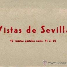 Postales: VISTAS DE SEVILLA. 10 TARJETAS POSTALES NÚMS. 41 AL 50 DE LA EDITORIAL MAYFE. COMPLETO. Lote 32337650