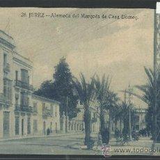 Postales: JEREZ - 26 - ALAMEDA DEL MARQUES DE CASA DOMEQ - EDICION LA CONCEPCION - (10.916). Lote 32345075