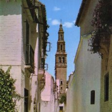 Postales: SEVILLA - ECIJA - CALLE MARMOLES Y TORRE DE SAN GIL. Lote 32452950