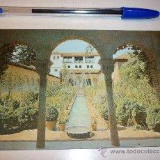 Postales: POSTAL GRANADA ALHAMBRA PATIO DE LA ACEQUIA (GENERALIFE) 1962. Lote 32488826
