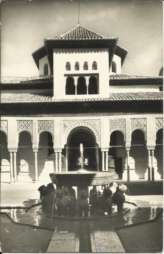 POSTAL: GRANADA - ALHAMBRA - PATIO DE LOS LEONES. (Postales - España - Andalucia Moderna (desde 1.940))