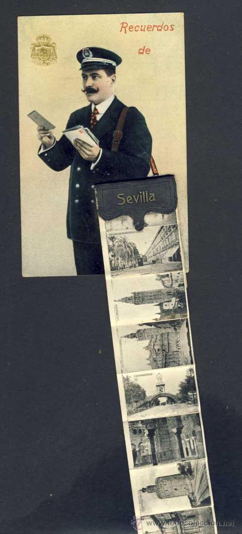 Postales: Postal de SEVILLA: Cartero con desplegable con 10 mini vistas (ver foto adicional) - Foto 2 - 32620355