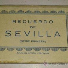Postales: ACORDEON DE 10 POSTALES 9X6 RECUERDO DE SEVILLA. SERIE PRIMERA. ABELARDO LINARES.. Lote 32630565