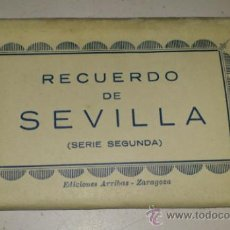 Postales: ACORDEON DE 10 POSTALES 9X6 RECUERDO DE SEVILLA. SERIE SEGUNDA. ABELARDO LINARES.. Lote 32630577