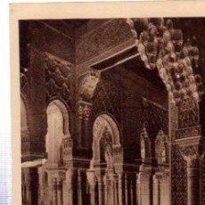 Postales: TARJETA POSTAL GRANADA, ALHAMBRA, ART ARABE, COUR DES LIONS, LA GALERIE, BRAUN Y CIE, PARIS. Lote 32754406
