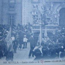 Postales: JESUS ATADO A LA COLUMNA C FABRICA DE TABACOS.SEMANA SANTA SEVILLA.MANUEL BARREIRO.S/C. Lote 32768500