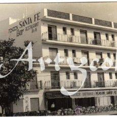 Postales: BONITA POSTAL - LOS BOLICHES (MALAGA) - PENSION SANTA FE - BAR RESTAURANTE - CAMAREROS . Lote 33095962