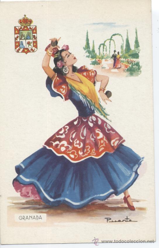 GRANADA. Nº 16. EDITOR VICENTE MARTÍNEZ. FOURNIER, VITORIA. SIN CIRCULAR (Postales - España - Andalucia Moderna (desde 1.940))