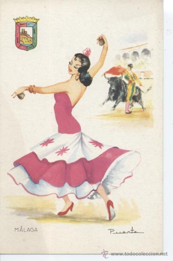 MÁLAGA. Nº 18. EDITOR VICENTE MARTÍNEZ. FOURNIER, VITORIA. SIN CIRCULAR. (Postales - España - Andalucia Moderna (desde 1.940))