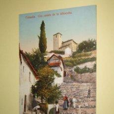Postales: GRANADA UNA CUESTA DE LA ALHACABA. Lote 33357952