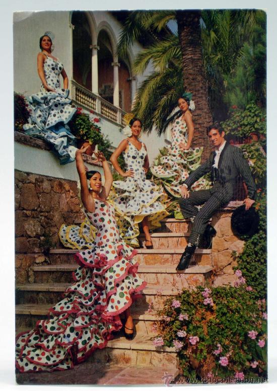 POSTAL FLAMENCAS BALLET PACO DE LUCIO Y SU FIESTA ALEGRÍAS DEL PUERTO AÑOS 70 ESCRITA (Postales - España - Andalucia Moderna (desde 1.940))
