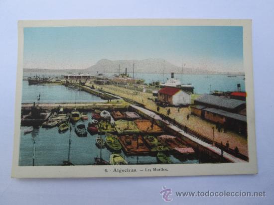 ALGECIRAS LES MUELLOS, LOS MUELLES 6 (Postales - España - Andalucia Moderna (desde 1.940))