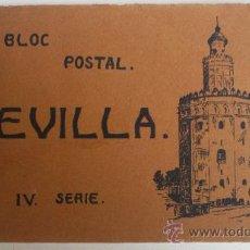 Postales: BLOC CON 15 POSTALES DE SEVILLA, IV SERIE, HELIOTIPIA ARTÍSTICA ESPAÑOLA. Lote 33825002