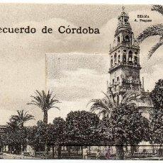 Postales: RECUERDO DE CORDOBA,DESPLEGABLE CENTRAL,EDIT,A.FRAGERO, RARISIMA. Lote 34284263